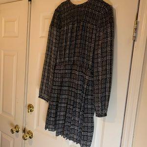 Michael Kors long sleeved pleated dress